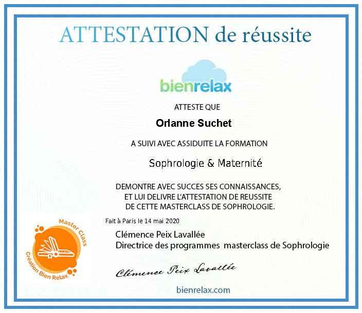 Certification maternité sophrologue