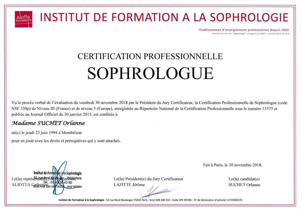 Certification Sophrologue IFS