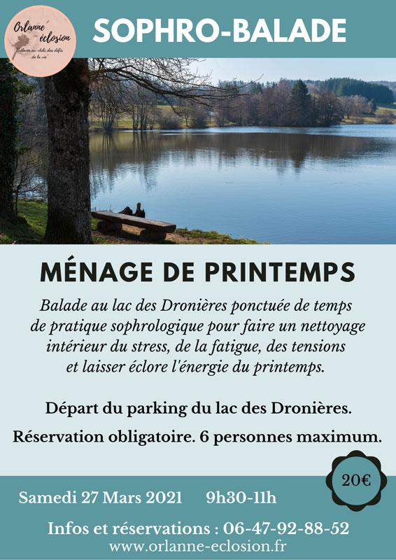 Sophro-balade ménage de printemps au lac des Dronières